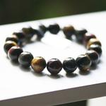 ronde 10mm 2 bracelet pierre naturelle trois oeil