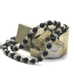 Apprêt  ronde 6 mm 1 collier en pierre naturelle onyx