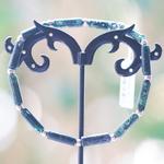 Apprêt mini tube 1 bracelet en pierre naturelle dagate mousse
