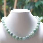 ronde 13mm vert 1 pierre naturelle jade