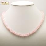 ronde 6 mm 2 collier pierre naturelle quartz rose