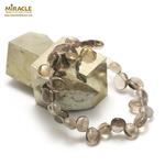 Ts baroque bracelet en pierre naturelle de quartz fumé