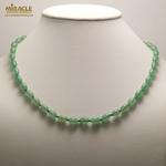 002 olive collier en pierre naturelle daventurine