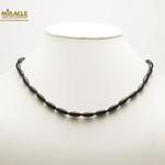 F olive 12x5 mm collier en pierre naturelle onyx