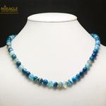 bleu ronde 8 mm collier en pierre naturelle dagate