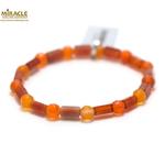 F tube rectangle-rond f 6 mm 1 bracelet pierre naturelle de cornaline