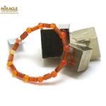 F tube rectangle-rond f 6 mm bracelet pierre naturelle de cornaline