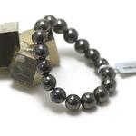 ronde 12 mm 1 bracelet en pierre naturelle d'hématite