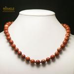 ronde 10 mm 1 collier en pierre naturelle de jaspe rouge