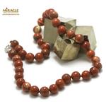 ronde 10 mm collier en pierre naturelle de jaspe rouge