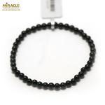 Perle ronde 4 mm bracelet pierre neturelle onyx