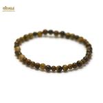 ronde  4 mm 1 bracelet pierre naturelle oeil du tigre