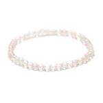 Ronde 4 mm bracelet pierre naturelle quartz rose