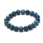ronde 10 mm bracelet en pierre naturelle dapatite
