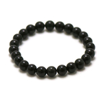 ronde 8 mm bracelet en pierre naturelle dobsidienne noir