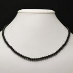 ronde 4 mm 1 collier en pierre naturelle dobsidienne noir