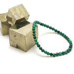 ronde 4 mm bracelet en pierre naturelle de malachite