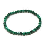 ronde 4 mm1 bracelet en pierre naturelle de malachite