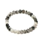 ronde 6 mm 1 bracelet en pierre naturelle de quartz tourmaline