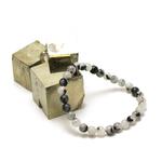 ronde 6 mm bracelet en pierre naturelle de quartz tourmaline