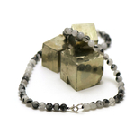 ronde 6 mm collier en pierre naturelle de quartz tourmaline