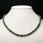 ronde 6 mm collier en pierre naturelle de turquoise dafrique