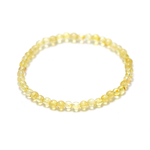ronde 4 mm 1 bracelet en pierre naturelle de citrine