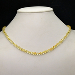 ronde 4 mm collier en pierre naturelle de citrine
