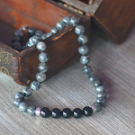 collier homme onyx larvikite