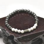 bracelet homme howlite hématite 1
