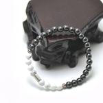 bracelet homme howlite hématite