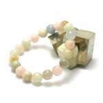 ronde 10 mm 1 bracelet en pierre naturelle de béryl morganite