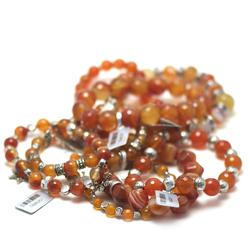 1 Bracelet en pierre naturelle de cornaline