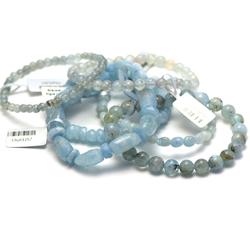 1.bracelet pierre naturelle de l'aigue marine