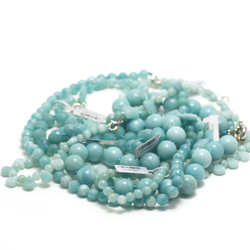collier pierre naturelle d'amazonite