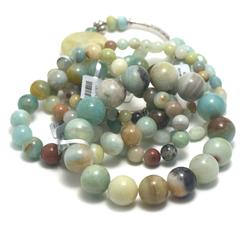 1.bracelet en pierre naturelle d'amazonite brut