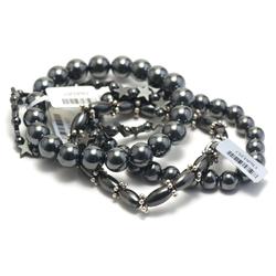 1.bracelet en pierre naturelle d'hématite