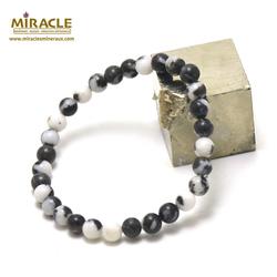 ronde 6 mm 1 bracelet en pierre naturelle de jaspe zèbre