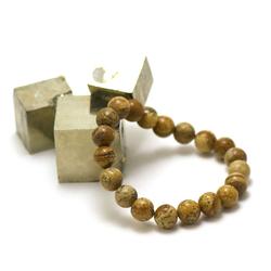 ronde 10 mm 1 bracelet en pierre naturelle de jaspe paysage