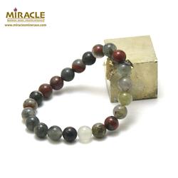 ronde 8 mm bracelet en pierre naturelle de jaspe héliotrope