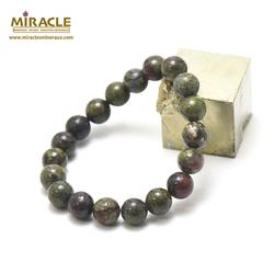 ronde 10 mm bracelet en pierre naturelle de jaspe sang de dragon