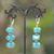 apprêt triple rondelle 1 facettée boucle doreille en pierre naturelle de turquoise