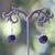 perle ronde 13 mm 1 boucle doreille pierre minérale grenat