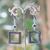 F carrée ciselé 1 boucle doreille en pierre naturelle dhématite