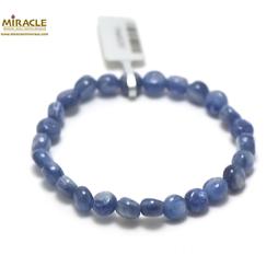 F petit palet rond bracelet en pierre naturelle de cyanite