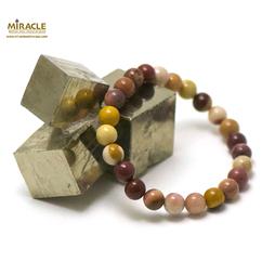 ronde 8 mm bracelet en pierre naturelle de mokaïte