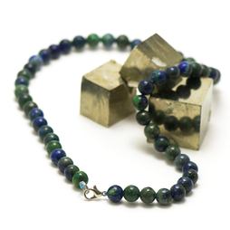 ronde 8 mm 1 collier en pierre naturelle d'azurite-malachite