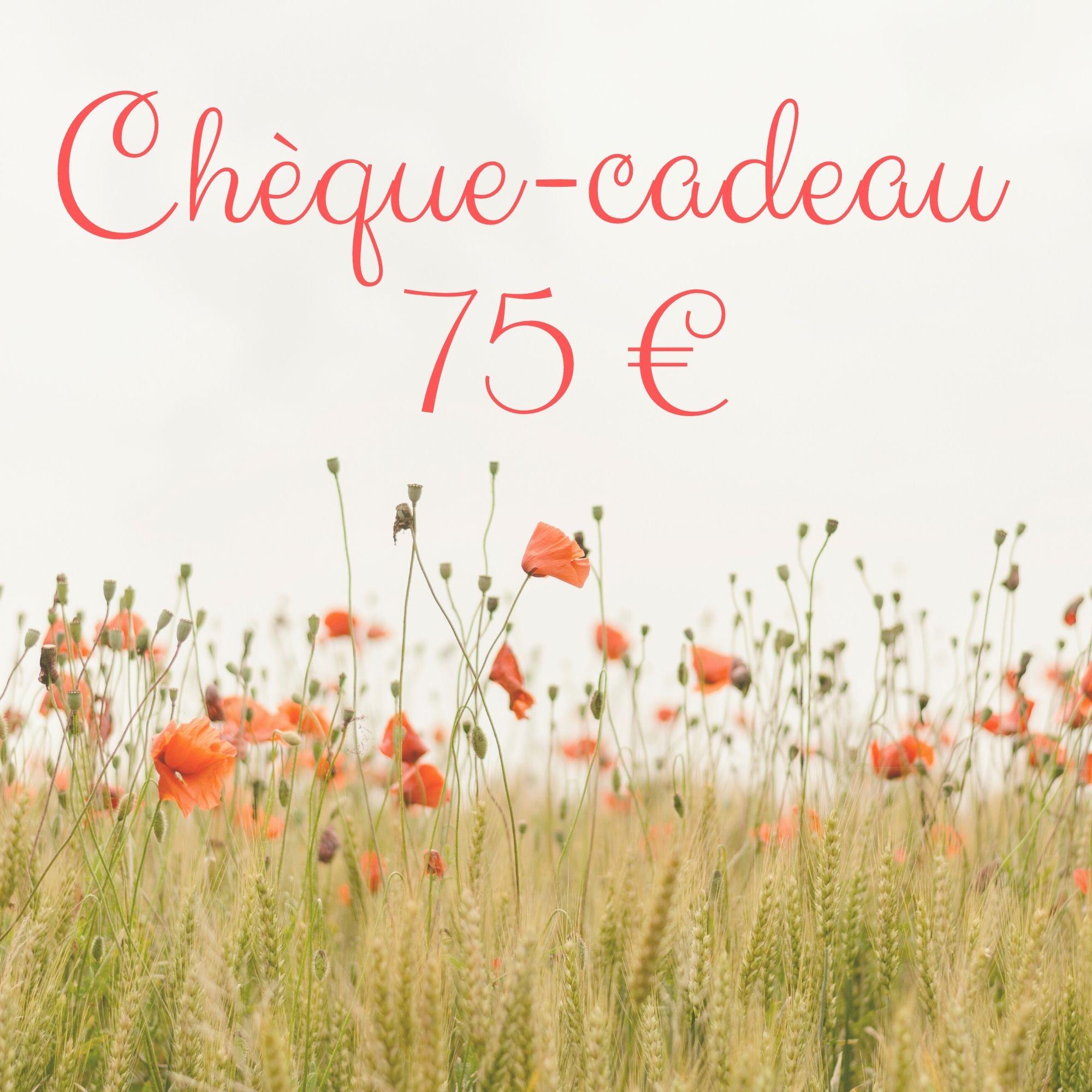 Chèque-cadeau 75 €