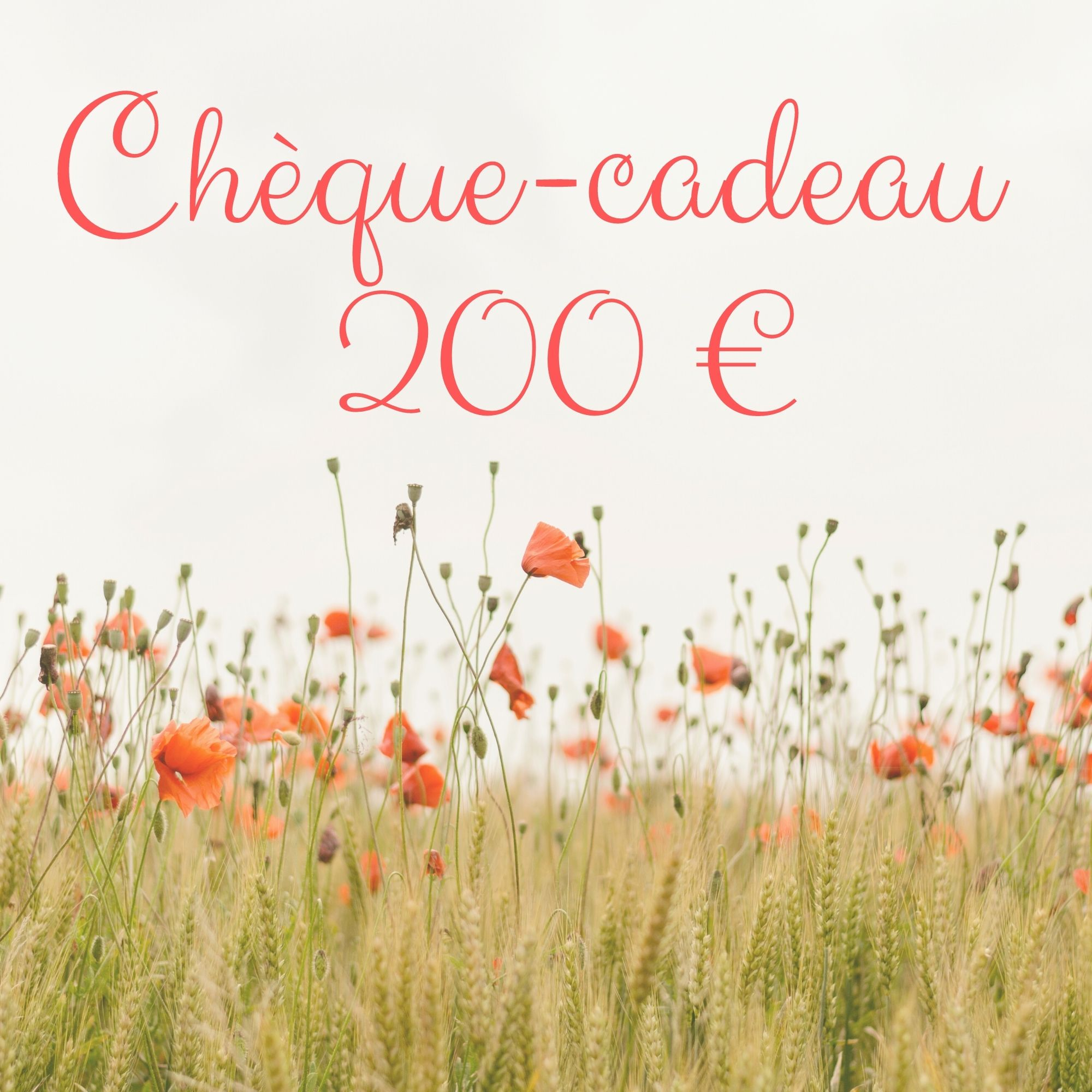Chèque-cadeau 200 €