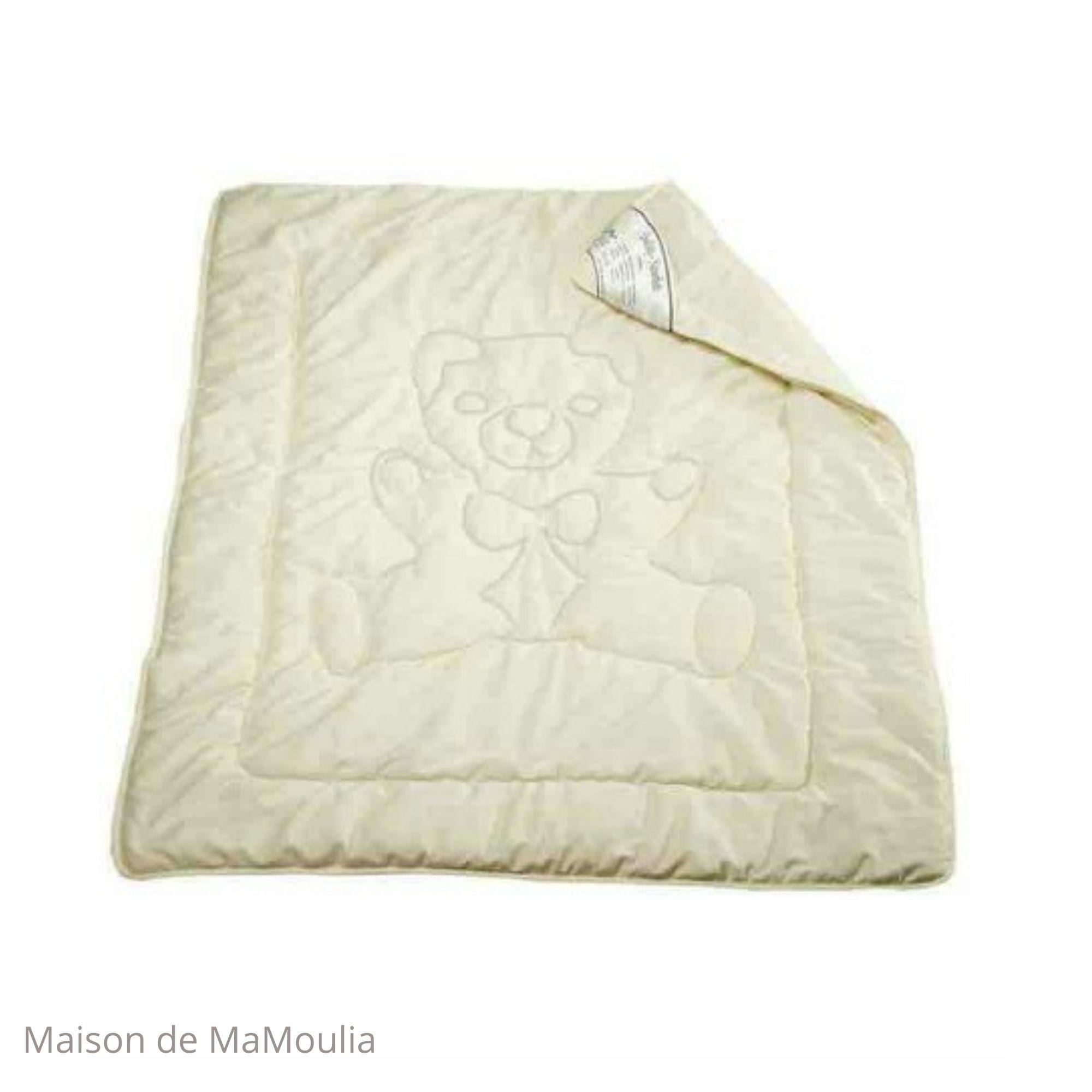 SALING - Couette en laine et coton bio pour enfant - 100x135cm